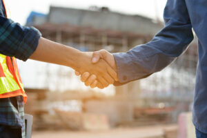 two male Shake hand ,businessman shake hand